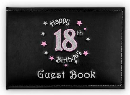 Happy 18th Birthday in Pink Guest Book